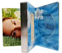Die Cut Board Book with Bound in CD